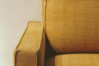 orange clean couch